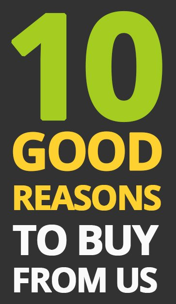 10 good reasons to buy from us